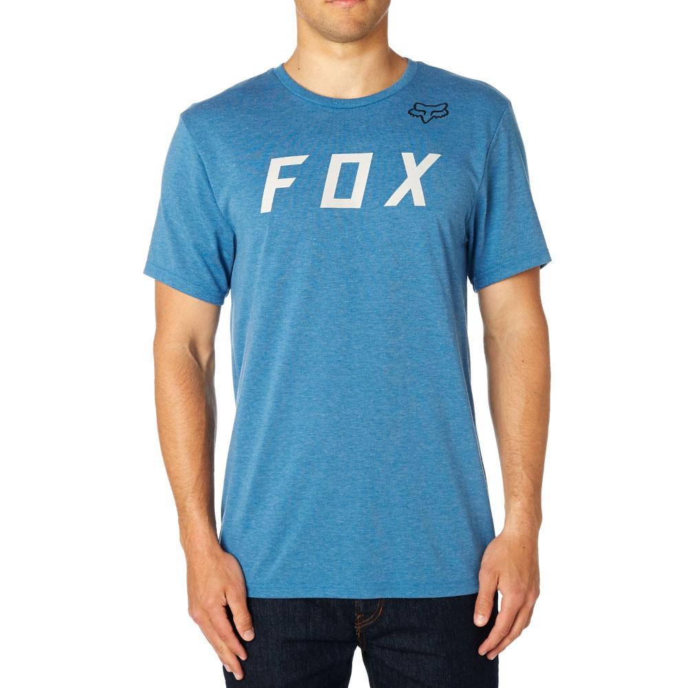 f9ea8c065ff7 Triko - FOX Grizzled SS Tech Tee 2018 - modrá