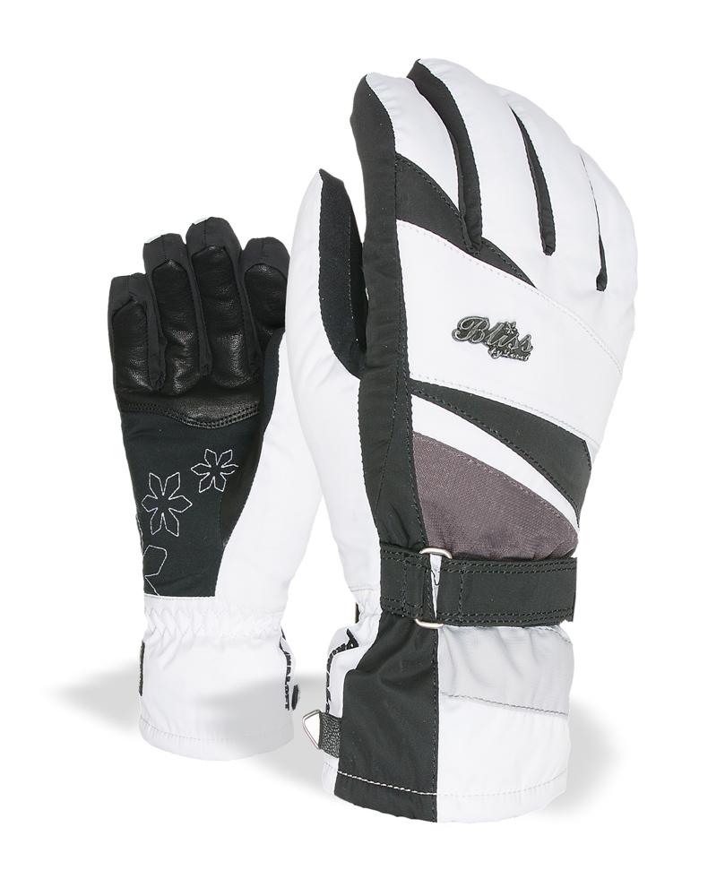 Dámské zimní rukavice - LEVEL Bliss Venus - černá bílá 88d9f446cf