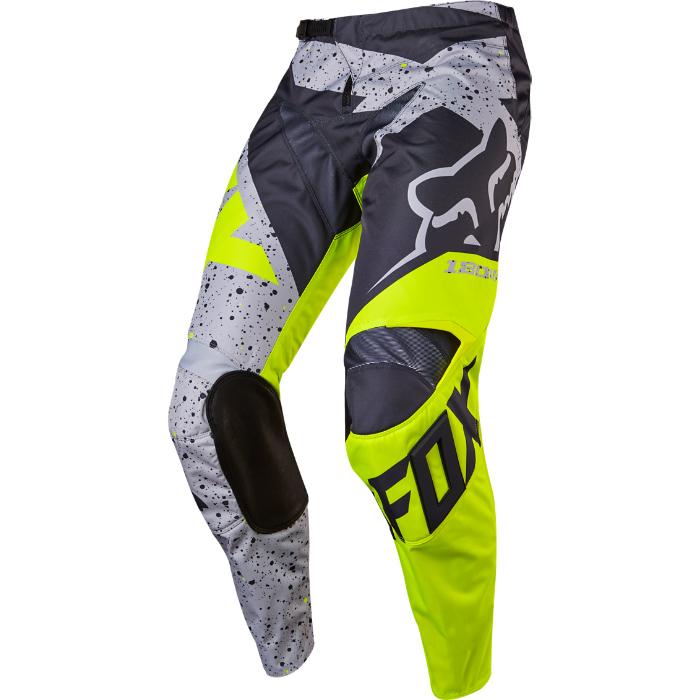 Kalhoty - FOX 180 Nirv 2017 - šedá   žlutá - 32 (likvidace skladu) 49784e4bba