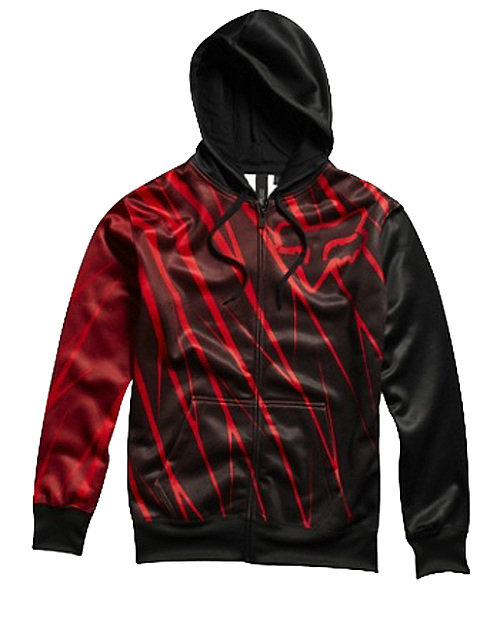Mikina - FOX Future Zip Front fleece - červená dda17ec5ae