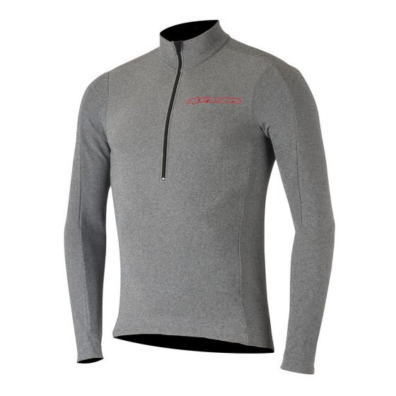Dres - ALPINESTARS Booter Warm Jersey 2018 - Grey/Rio Red