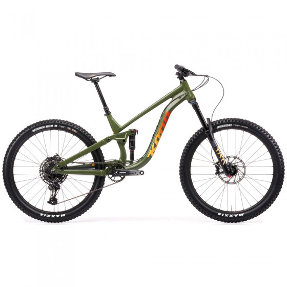 "Horské All Mountain / Enduro kolo - KONA Process 153 27,5"" 2021 - Zelená"
