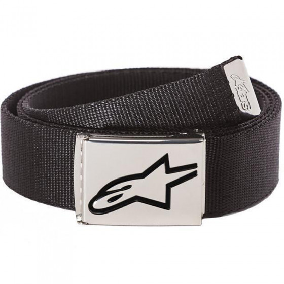 Pásek - Alpinestars Ageless Web Belt 2021 - Black / Chrome