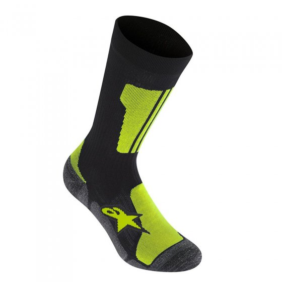 Ponožky - ALPINESTARS Crew Sock 2019 - Black/Acid Yellow