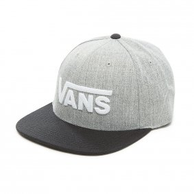 Čepice - VANS Drop V II Snapback - Heather Grey