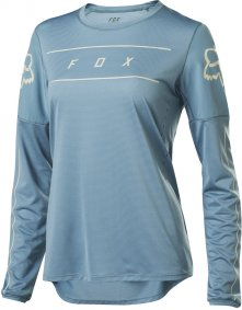 Dámský dres - FOX Wmns Flexair Ls Jersey 2020 - Light Blue