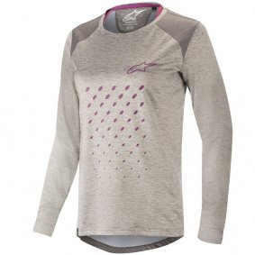 Dámský dres - ALPINESTARS Stella Alps 6.0 LS - Light Gray