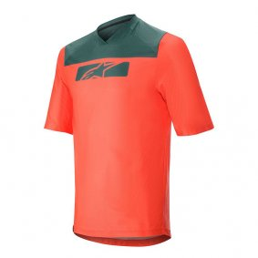 Dres - ALPINESTARS Drop 4.0 SS 2020 - Bright Red/Atlantic