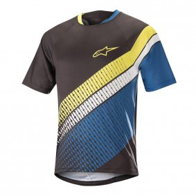 Dres - ALPINESTARS Predator SS 2018 - Black/Royal Blue/Acid Yellow