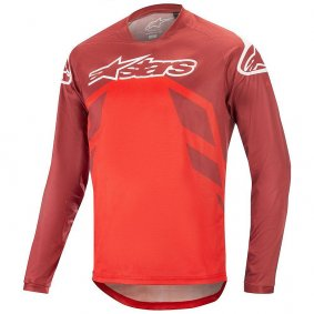Dres - ALPINESTARS Racer V2 LS 2020 - Burgundy/Bright Red/White