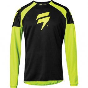 Dres - SHIFT Whit3 Label Race Jersey 1 2019 - Fluo žlutá