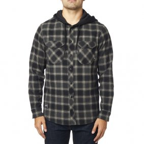 Košile - FOX Avalon Hooded Flannel 2020 - Black