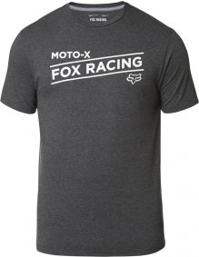 Triko - FOX Banner Ss Tech Tee - Heather Black