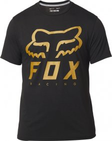 Triko - FOX Heritage Forger Ss Tech Tee 2019 - Black/Yellow