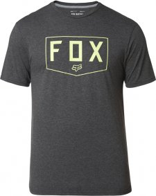 Triko - FOX Shield Ss Tech Tee - Heather Black