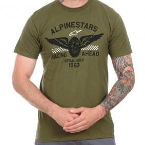 Triko - ALPINESTARS Landspeed Tee 2017 - Military