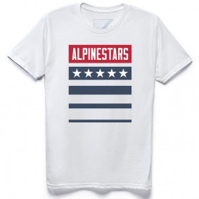 Triko - ALPINESTARS National Tee 2021 - White