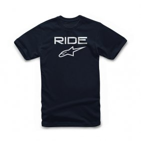 Triko - ALPINESTARS Ride 2.0 Tee - Navy/White
