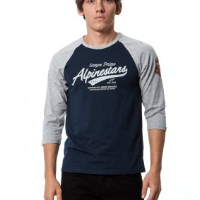Triko - ALPINESTARS Script Premium Tee 2021 - Grey Heather/Navy