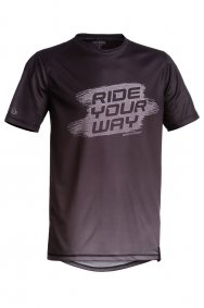 Triko - DARTMOOR Ride Your Way Tech Tee - černošedá
