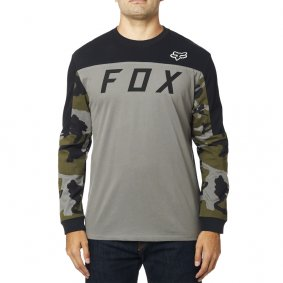 Triko - FOX Grizzled LS Airline Knit 2019 - Grey Camo
