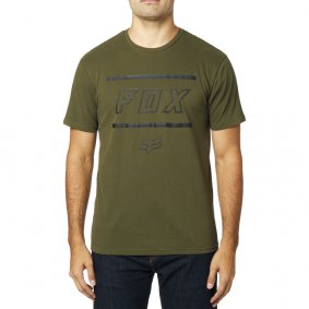 Triko - FOX Midway Ss Airline Tee 2019 - Olive Green