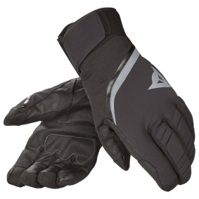 Zimní rukavice - DAINESE Carved Linde D-Dry Glove - Black/Steel Grey